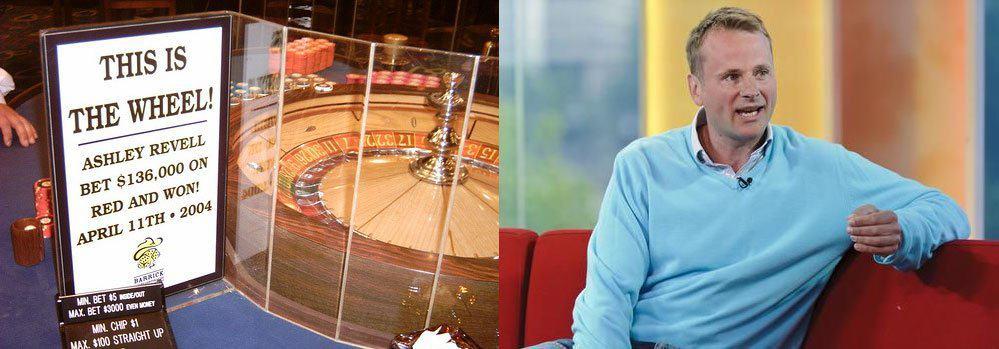 Ashley Revell zetten al zijn spaargeld in op de roulette