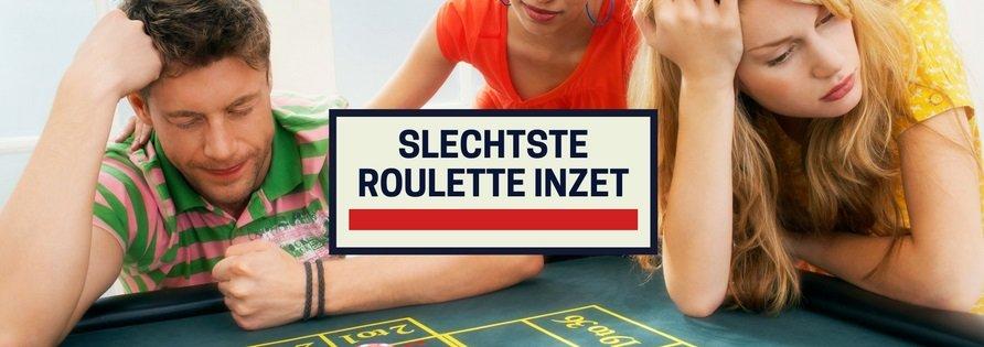 Slechtste roulette inzet: de toplijn inzet met Amerikaans roulette