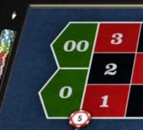 Roulette top lijn inzet