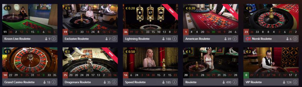 Live Roulette spellen