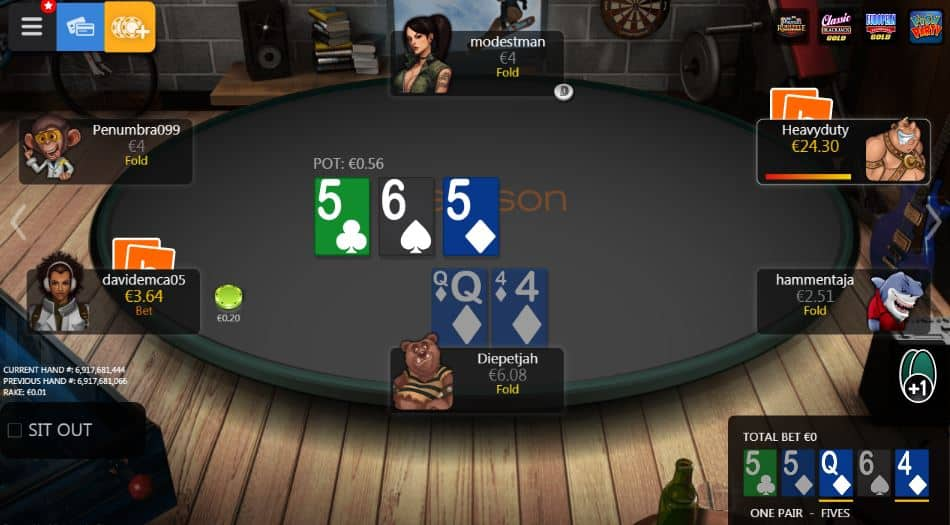 Poker spelen bij Betsson