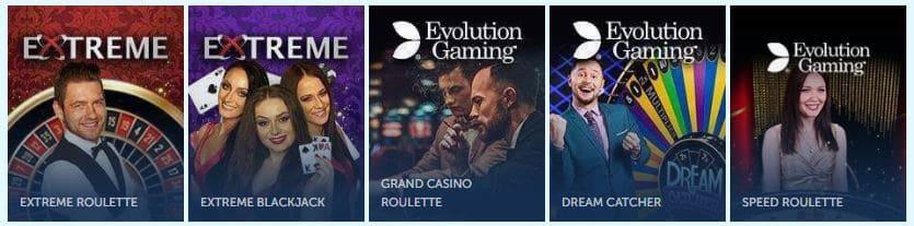 Live casino spellen van Oranje Casino
