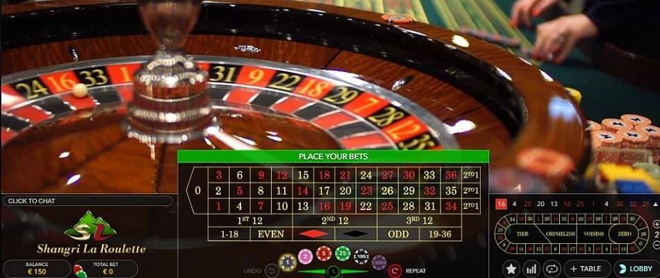 Online roulette spelen in het Shangri La Casino