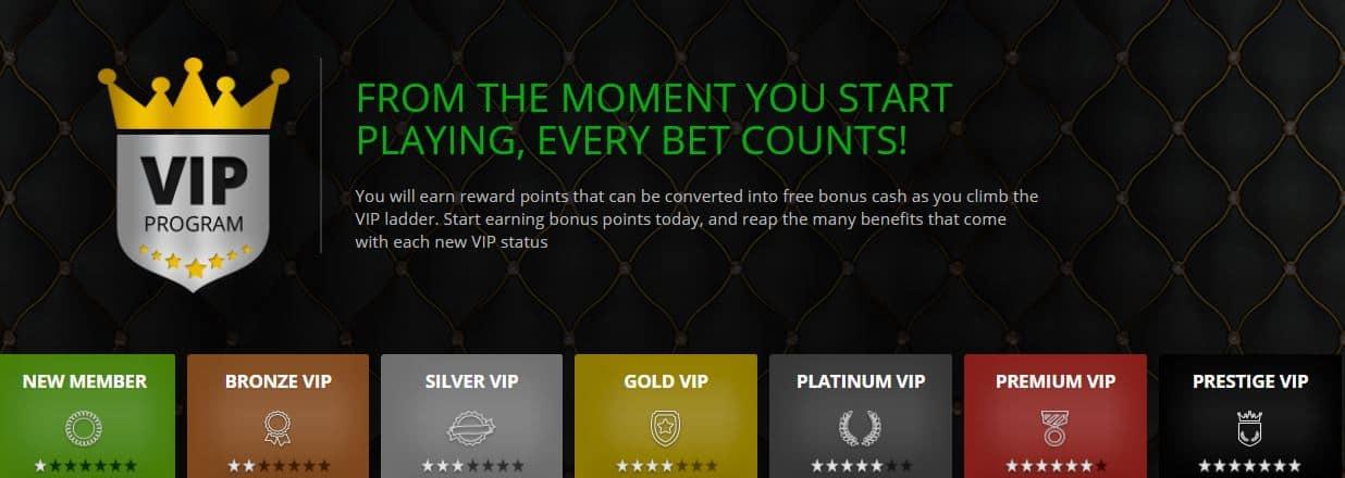 vip programma casinoluck