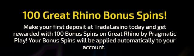Welkomstbonus van Trada Casino