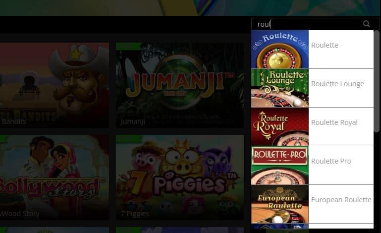 Vind je favoriete casino spellen