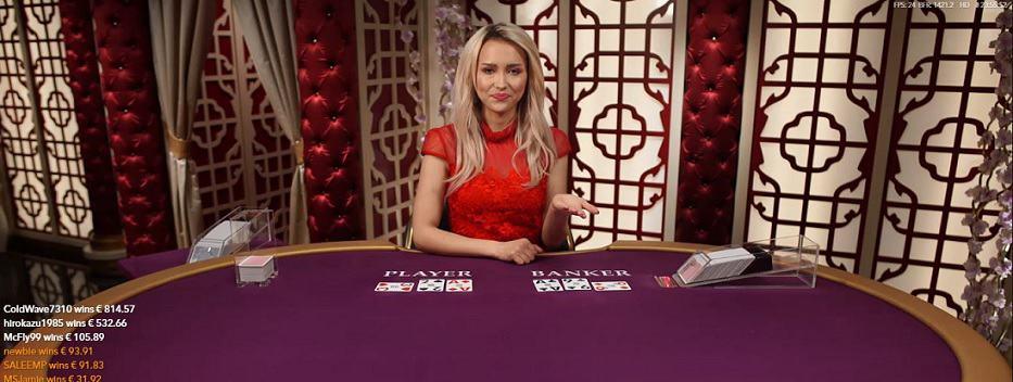 Online baccarat spelen in een live casino