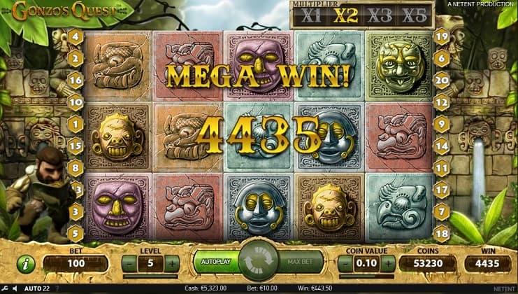 Mega Win met Gonzo