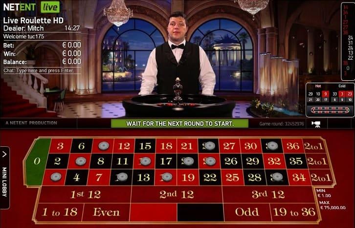 Live Roulette van NetEnt