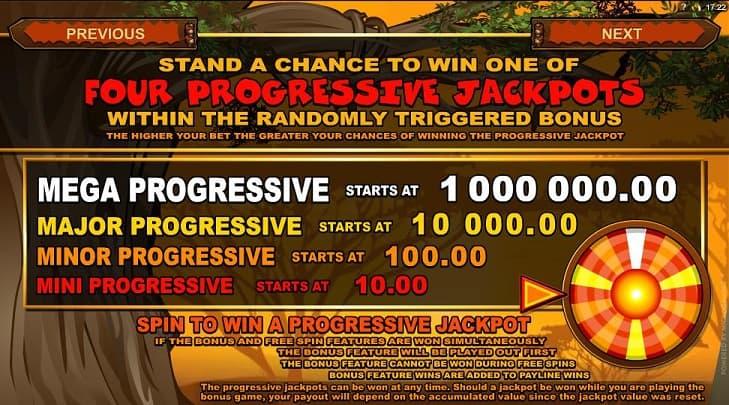 Progressieve jackpots van de Mega Moolah gokkast