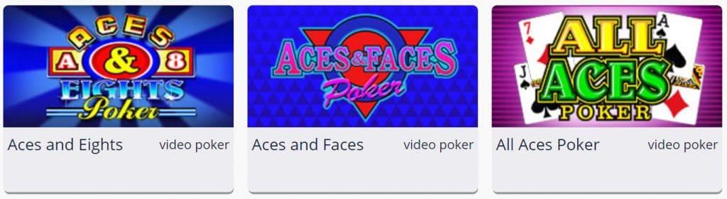 Online video poker spellen