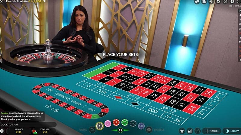 Vlaams Roulette bij Evolution Gaming