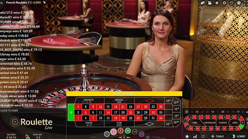 De originele Frans roulette met de la partage regel