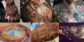 Roulette Tattoos op verschillende lichaamsdelen