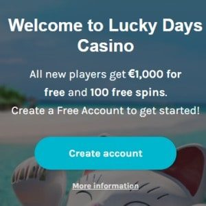 Bonus van Lucky Days Casino