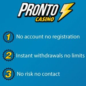 Pronto Casino bonus voordelen