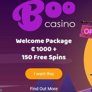 welkomst pakket van boo casino