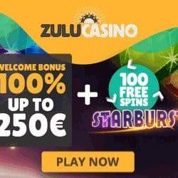Welkomstbonus van Zulu Casino